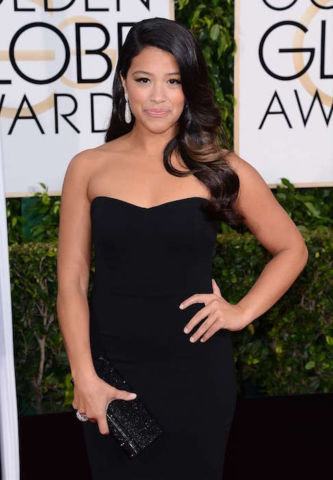 Gina Rodriguez at 2015 Golden Globe Awards