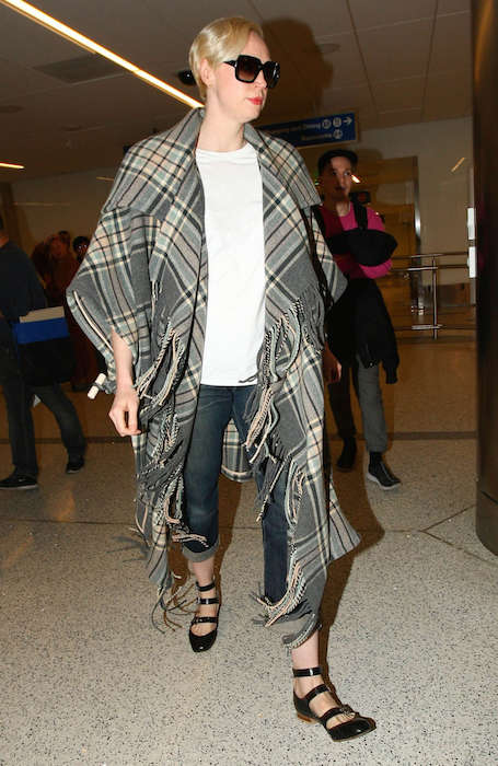 Gwendoline Christie arriving at LAX Airport in December 2015