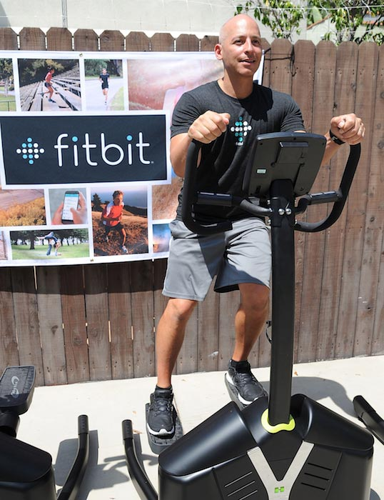 Harley Pasternak leading a workout group in August 2015