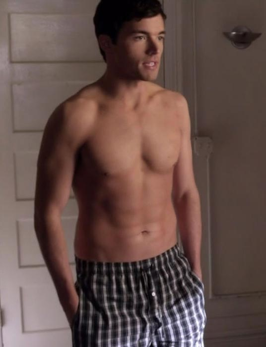 Ian Harding shirtless body - a still from Pretty Little Liars