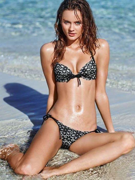 Jac Jagaciak at 2015 Victoria's Secret Swimsuit Photoshoot