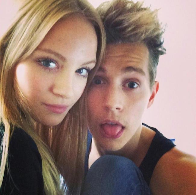 James McVey and his ex-girlfriend Kirstie Brittain