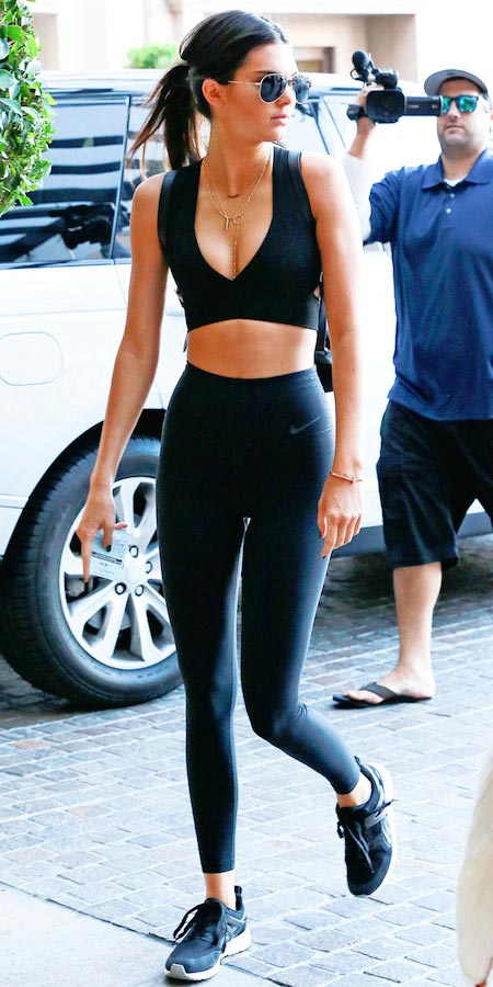 Kendall Jenner in August 2015 after a workout