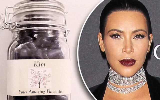 Kim Kardashian and placenta pills