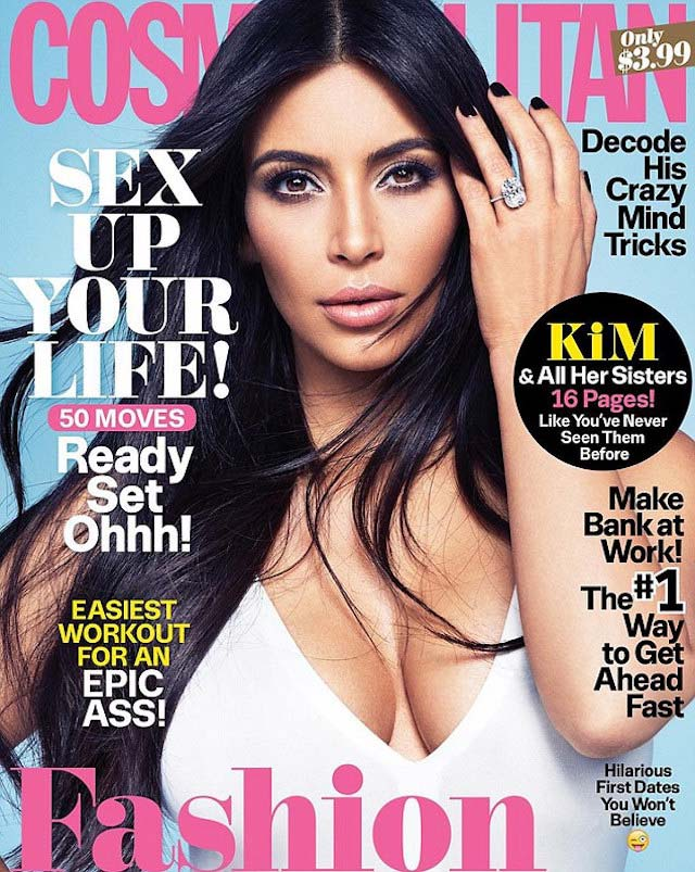 Kim Kardashian posted her single cover of the 50th Anniversary Edition in November 2015