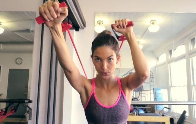 Lily Aldridge working out