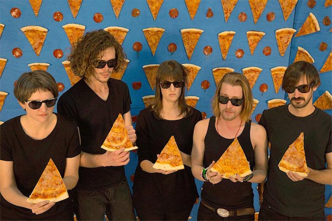 Macaulay Culkin (second from right) in The Pizza Underground