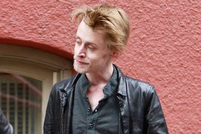 Macaulay Culkin looking in 2012