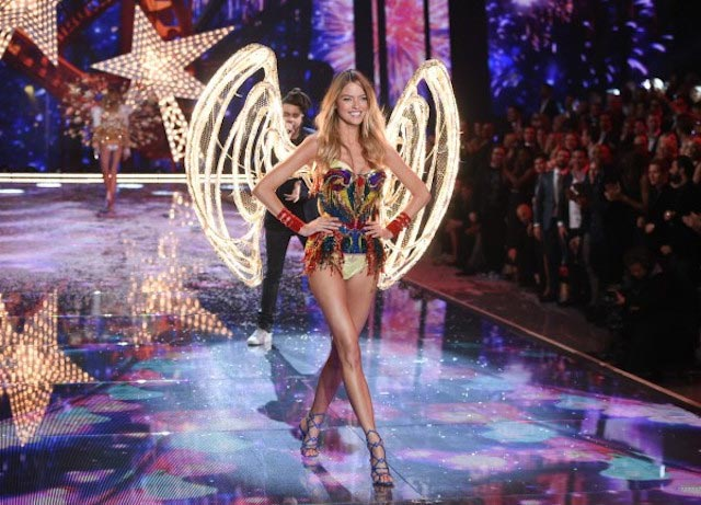 Martha Hunt during 2015 Victoria's Secret Fashion Show