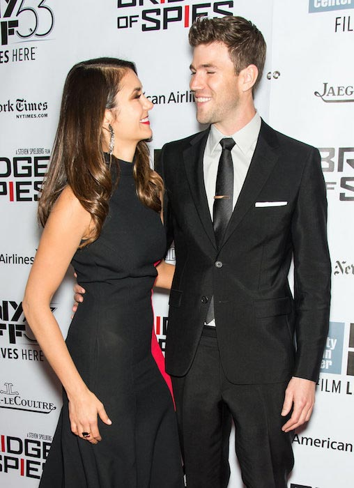 Nina Dobrev and Austin Stowell at Red Carpet in October 2015