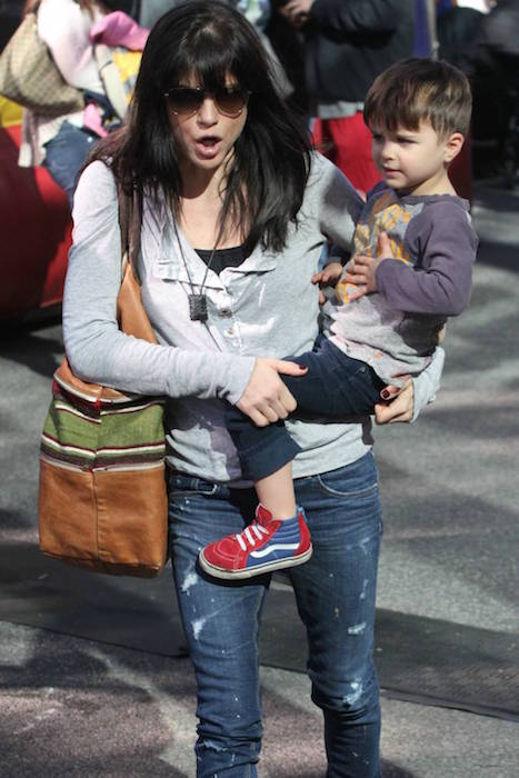 Selma Blair with her son Arthur in January 2015