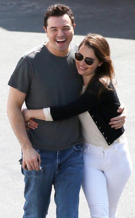Seth MacFarlane and Emilia Clarke