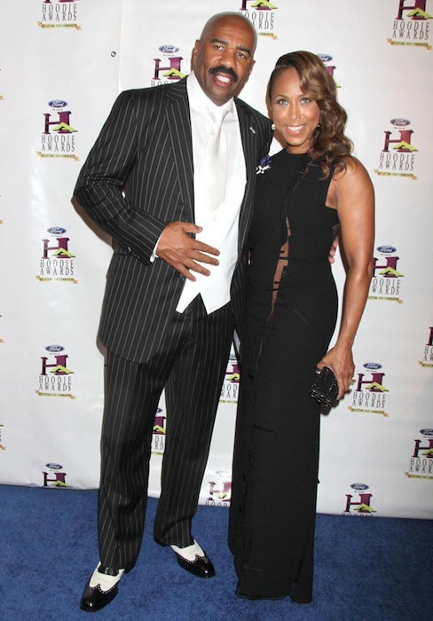 Steve Harvey and Marjorie Bridges at 9th Annual Ford Hoodie Awards