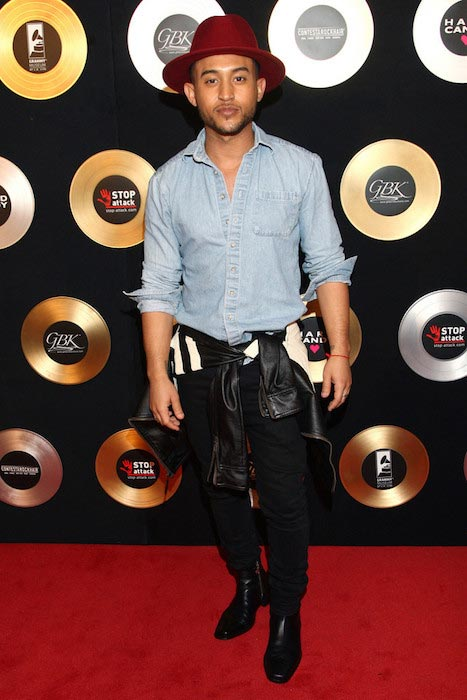 Tahj Mowry at the GBK Music Gift Lounge in honor of the 2015 Grammy Nominees