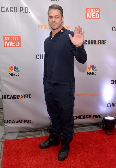 "Taylor Kinney during the press junket for NBC's ""Chicago Fire"", ""Chicago P.D."" and ""Chicago Med"""