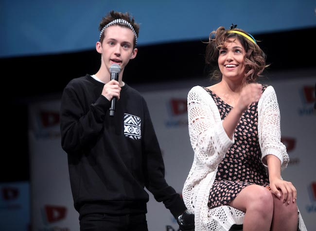 YouTubers Troye Sivan and Bethany Mota