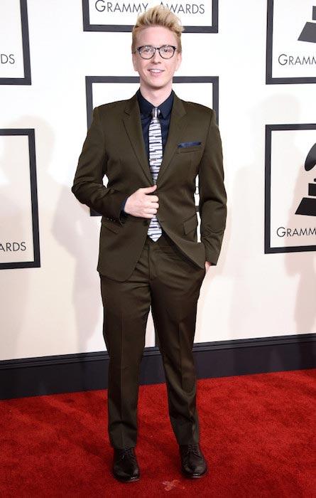 Tyler Oakley at Grammy Awards 2015