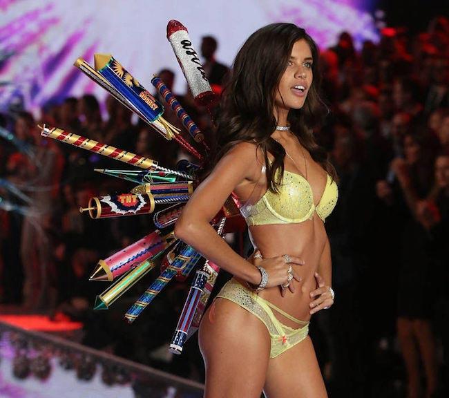 Victoria's Secret Angel Sara Sampaio walks the runway at the 2015 Victoria's Secret Fashion Show