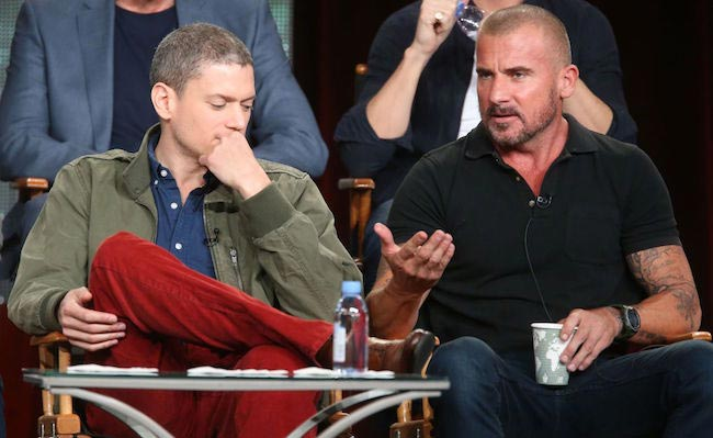 Wentworth Miller and Dominic Purcell at Winter Television Critics Association Tour 2015