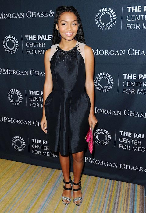 Yara Shahidi at Tribute to African American Achievements in Television 2015