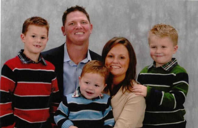 A.J. Styles with wife Wendy Jones and their first three children