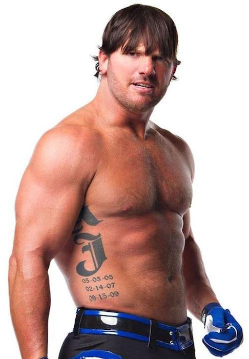 A.J. Styles shirtless body