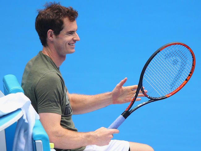 Andy Murray during a tennis match
