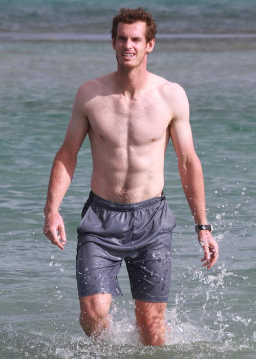 Andy Murray shirtless body