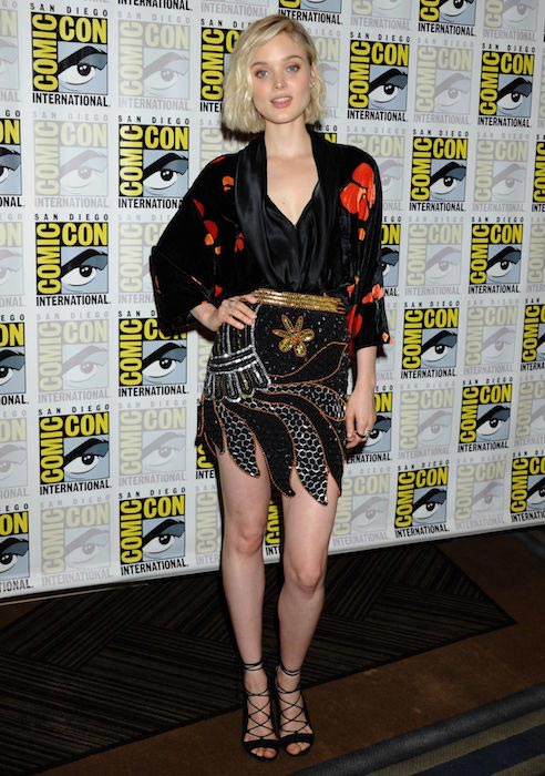Bella Heathcote at Pride and Prejudice and Zombies Press Day at Comic-Con International in San Diego in July 2015