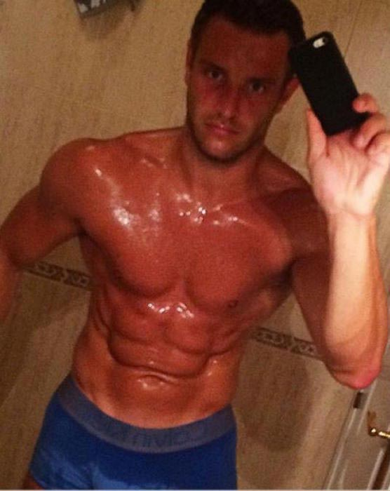 Dan Osborne sweaty after a workout