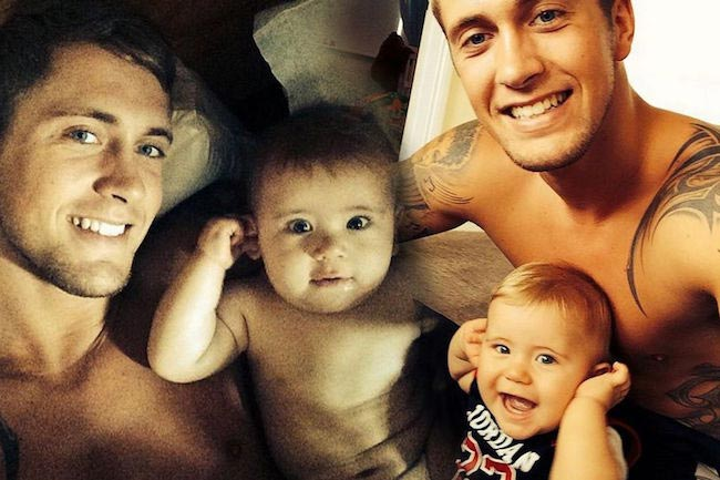 Dan Osborne with his kid