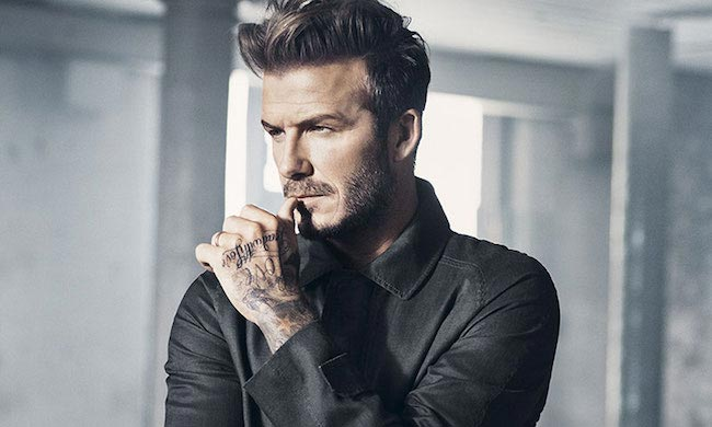 David Beckham looking dapper