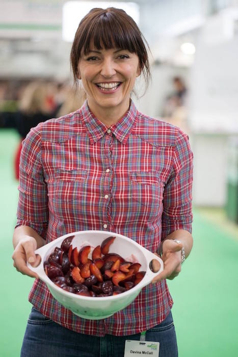 Davina McCall with food