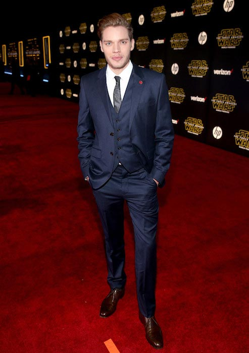 Dominic Sherwood at the premiere of Star Wars: The Force Awakens in December 2015