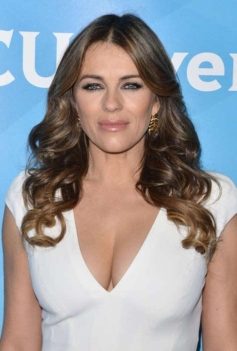 Elizabeth Hurley at 2015 NBCUniversal Press Tour Day 1