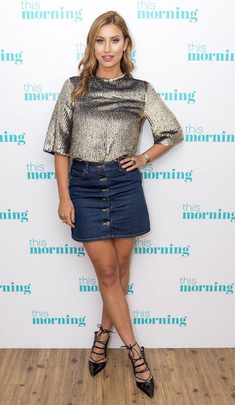 Ferne McCann during This Morning TV Show in London in December 2015