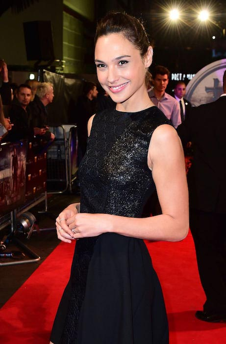 "Gal Gadot at the ""Last Witch Hunter"" premiere in London in October 2015"