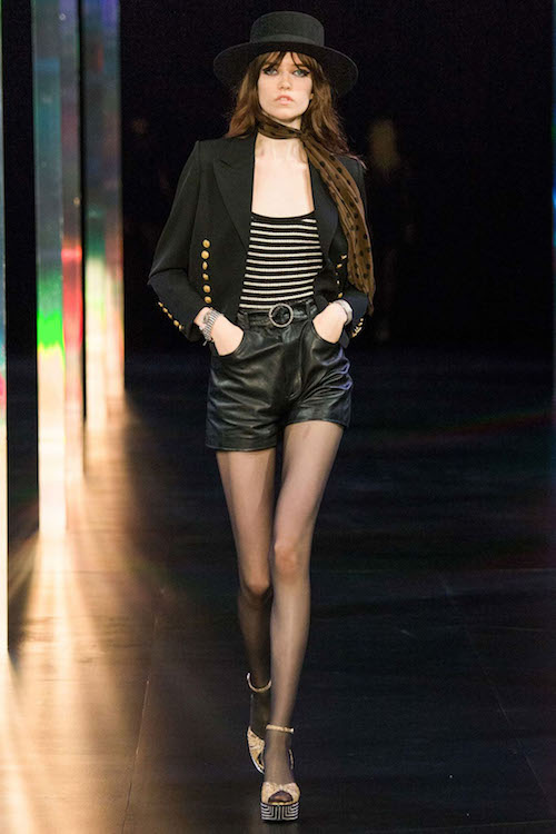 Grace Hartzel walking the Saint Laurent Paris Fashion Week Spring Summer 2015
