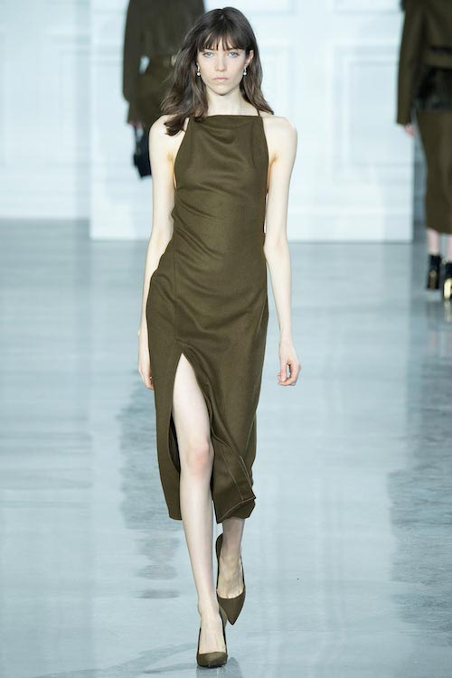 Grace Hartzel walking the Jason Wu Fall 2015 Fashion Show