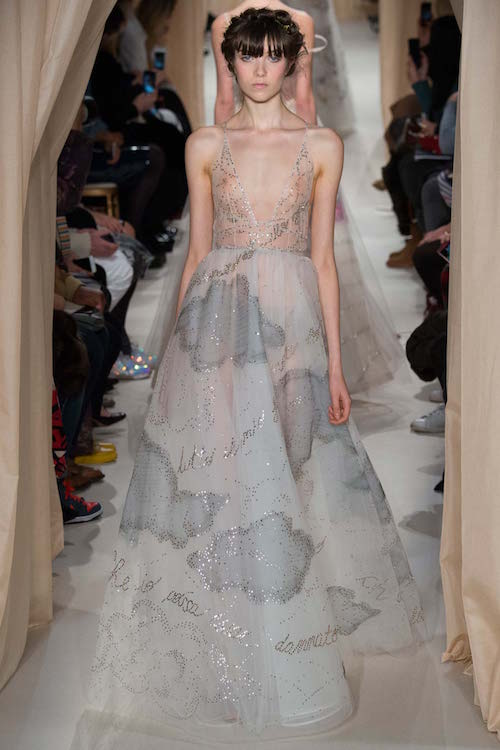 Grace Hartzel walking the Valentino Spring 2015 Couture Fashion Show