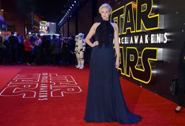 """Gwendoline Christie at """"Star Wars: Force Awakens"""" premiere"""