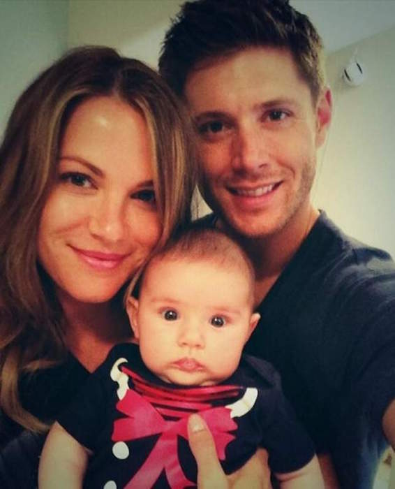 Jensen Ackles and Danneel Harris and their baby girl
