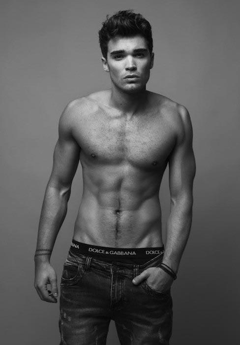 Josh Cuthbert shirtless body
