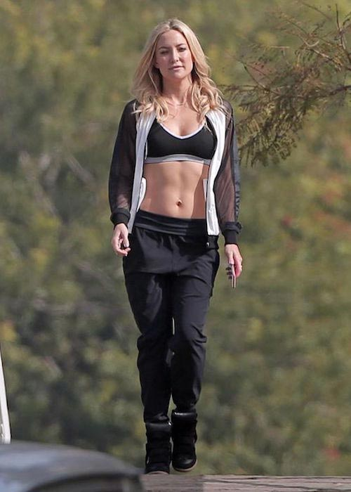 Kate Hudson in her workout gear