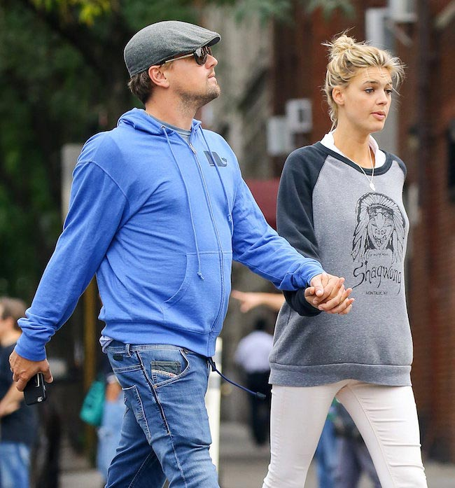 Kelly Rohrbach with Leonardo DiCaprio