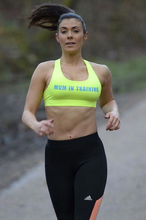 Kym Marsh out for jogging in Manchester on November 12, 2015