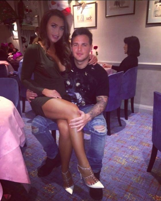 Lauren Goodger and boyfriend Jake McLean spend Christmas together on December 25, 2015