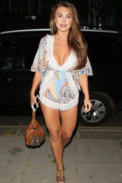 Lauren Goodger at the Heat Magazine offices in October 2015