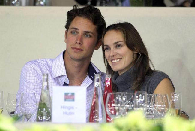 Martina Hingis and Thibault Hutin