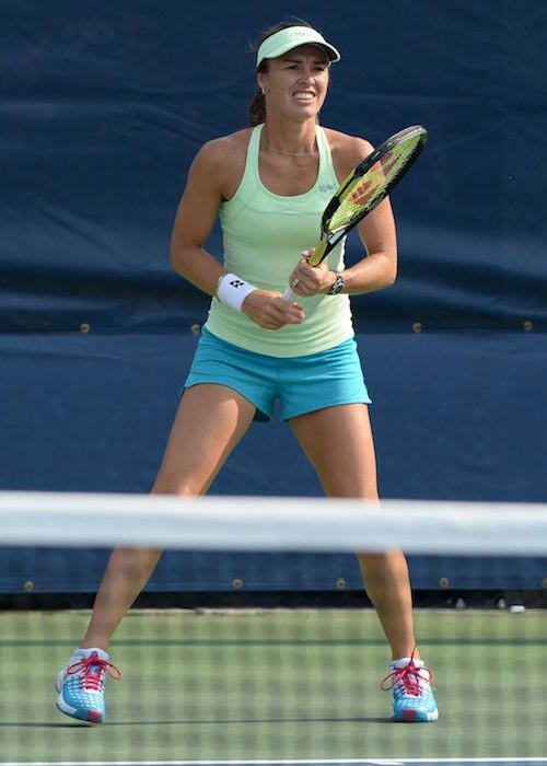 Martina Hingis during a Practice Session in New York in August 2015